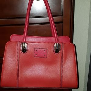 👄Red Hot Satchel Saffiano Leather